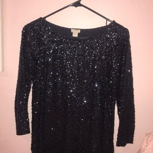 J,Crew Sequin Shirt